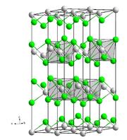 Bild Kristallstruktur Cadmiumchlorid